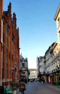 Brujas. Calle Breidelstraat