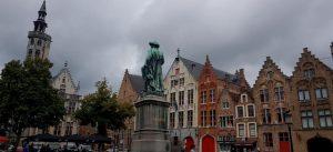 Brujas. Plaza de Jan Van Eyck. Jack Van Eyckplein.