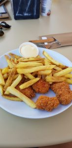Hoge Veluwe. Restaurante. Nuggets
