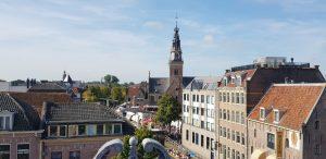 Alkmaar. Vista de la Waagplein.