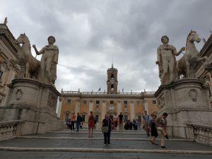Roma. Cordonata Capitolina. Plaza del Campidoglio