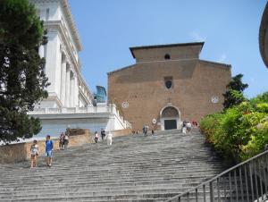 Roma. Escalinata de Santa María
