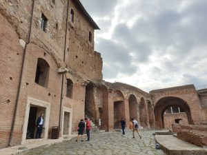 Roma. Foro de Trajano. Mercado de Trajano.