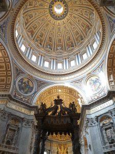 Roma. Vaticano. Cúpula de la Basílica de San Pedro